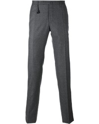 Pantalon chino en laine gris Incotex