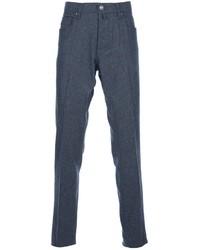 Pantalon chino en laine gris Jacob Cohen