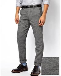 Pantalon chino en laine gris Minimum
