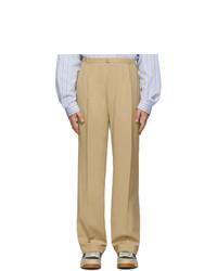 Pantalon chino en laine marron clair