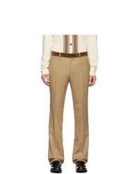 Pantalon chino en laine marron clair Burberry
