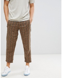 Pantalon chino en laine marron