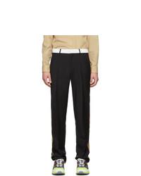Pantalon chino en laine noir Burberry