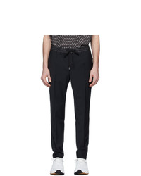 Pantalon chino en laine noir Dolce and Gabbana