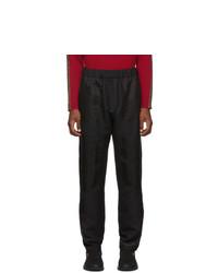 Pantalon chino en laine noir Fendi