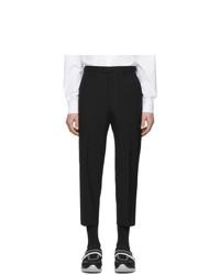 Pantalon chino en laine noir Prada