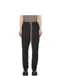Pantalon chino en laine noir Rick Owens
