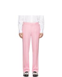 Pantalon chino en laine rose Burberry