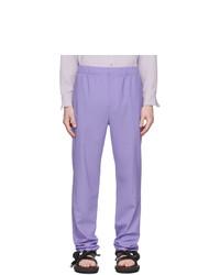 Pantalon chino en laine violet clair Tibi