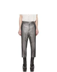 Pantalon chino en lin argenté Rick Owens