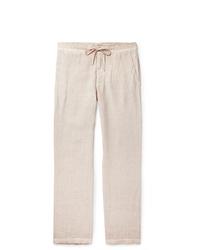 Pantalon chino en lin beige 120%