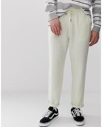 Pantalon chino en lin beige ASOS DESIGN