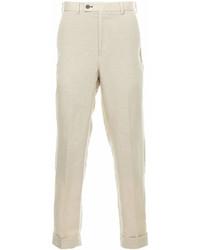 Pantalon chino en lin beige