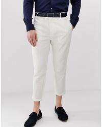 Pantalon chino en lin blanc