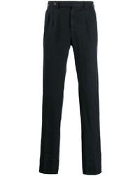 Pantalon chino en lin bleu marine Berwich