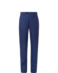 Pantalon chino en lin bleu marine Oliver Spencer