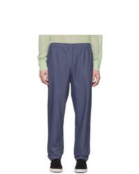 Pantalon chino en lin bleu marine Tibi