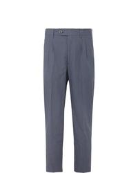 Pantalon chino en lin bleu