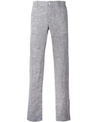 Pantalon chino en lin gris