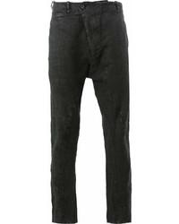 Pantalon chino en lin noir