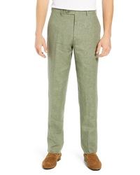Pantalon chino en lin olive