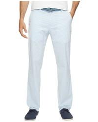 Pantalon chino en seersucker bleu clair