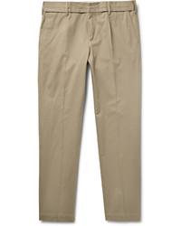 Pantalon chino en sergé marron clair Dolce & Gabbana