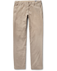 Pantalon chino en sergé marron clair Polo Ralph Lauren