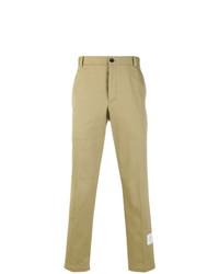 Pantalon chino en sergé marron clair Thom Browne