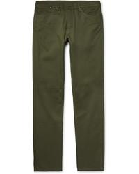 Pantalon chino en sergé olive Dunhill