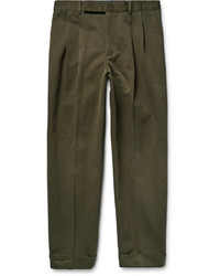 Pantalon chino en sergé olive Paul Smith