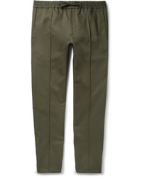 Pantalon chino en sergé olive Valentino
