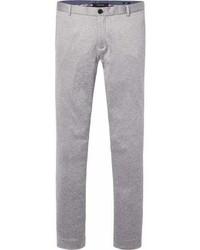 Pantalon chino en tricot gris
