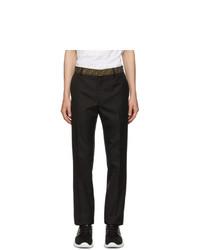 Pantalon chino en tricot noir Fendi