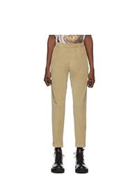 Pantalon chino en velours côtelé beige