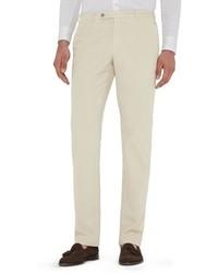 Pantalon chino en velours côtelé blanc