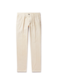Pantalon chino en velours côtelé blanc Altea