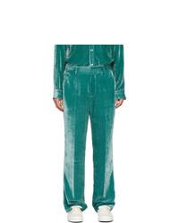 Pantalon chino en velours côtelé bleu canard Sies Marjan