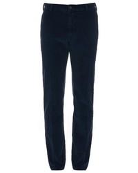 Pantalon chino en velours côtelé bleu marine