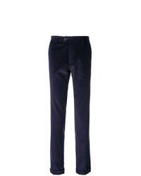 Pantalon chino en velours côtelé bleu marine Berwich