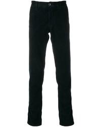 Pantalon chino en velours côtelé bleu marine Incotex