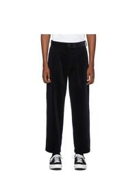 Pantalon chino en velours côtelé bleu marine Noah NYC