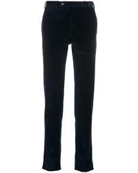 Pantalon chino en velours côtelé bleu marine Pt01