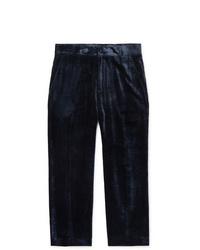 Pantalon chino en velours côtelé bleu marine Sies Marjan