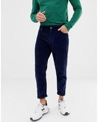 Pantalon chino en velours côtelé bleu marine Tommy Jeans