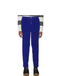 Pantalon chino en velours côtelé bleu Moncler