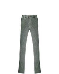 Pantalon chino en velours côtelé gris