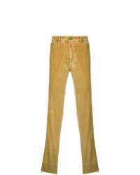 Pantalon chino en velours côtelé jaune Incotex