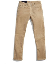 Pantalon chino en velours côtelé marron clair