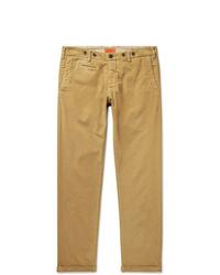 Pantalon chino en velours côtelé marron clair Barena